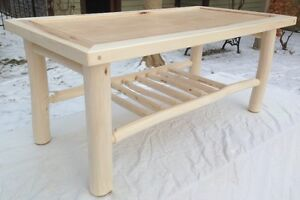 Poplar Log Coffee Table