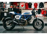DUCATI SCRAMBLER CAFE RACER ** TERMIGNONI EXHAUST and FULL DEALER HISTORY **