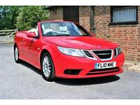 2010 SAAB 9.3 LINEAR 1.9TID CONVERTIBLE. 47000 MILES ONE OWNER. BRIGHT RED