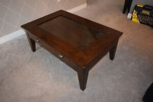 Really nice Glass insert coffee table with Drawer
