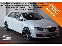 2011 Seat Exeo 2.0TDI 143BHP SE Tech-1 OWNER-FULL HISTORY-HEATED LEATHER-SAT NAV