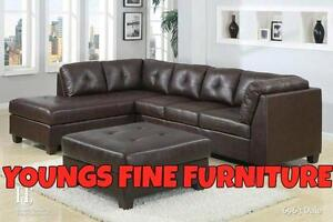 BLACK FRIDAY WEEK SALE  ON NOW 3PCS BONDED LEATHER SECTIONAL WITH FREE STORAGE OTTOMAN $499.99 LOWEST PRICES GUARANTEED