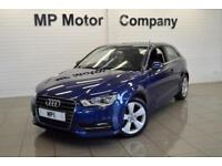 2013 63 AUDI A3 1.6 TDI SPORT 3D AUTO 104 BHP DIESEL 7SP AUTO SPORTS HATCH. BLUE