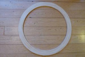 Handcrafted Pine Circle Window Trim
