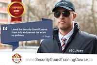 Online Security Guard Training Ontario! 100% Success Rate.