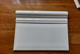 Metro tiles 200mm x 100mm (x44) & matching ceramic Dado trim