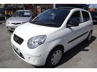 2010 Kia Picanto 1.1 Graphite IN WHITE SPORTY LOOKING LOW MILES MOT SER HISTORY