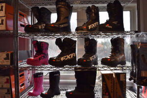 MEN'S AND WOMEN'S FXR SNOWMOBILE BOOTS ARE IN STOCK NOW!