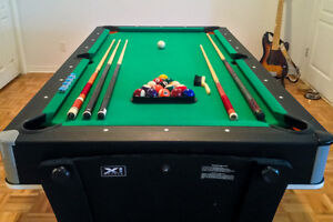 X1 2-in-1 Pool and Air Hockey table
