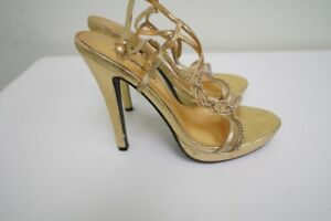 Perfect Gold Evening Dress Heels for Holiday Party - Size 7.5