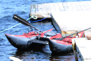 Arrow Backpacker Inflatable Pontoon Fun / Fishing Boat