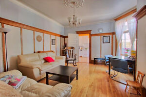 Big furnished home 7 1/2 with 3 bedrooms close metro Verdome