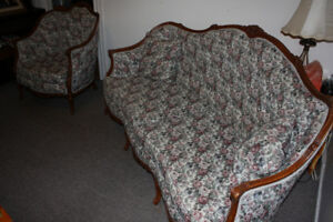 Antique Couch and Chair - $600 OBO