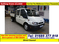 2004 - 04 - FORD TRANSIT T350 2.4TD LWB DOUBLE CAB TIPPER (GUIDE PRICE)