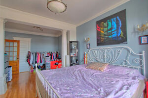 All incl furnished condo 2 bedrooms steps metro Vendome parking