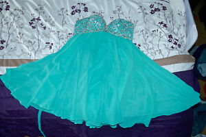 Beautiful Corset Teal Dress for Grad, Prom or New Years