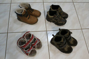 Boys Geox/Old Navy boots and sandals, size 9, 11
