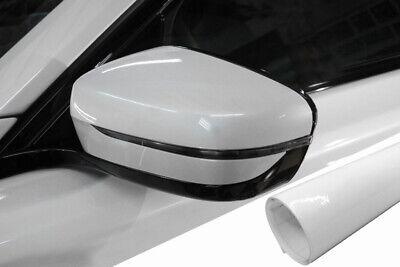 Für viele Fahrzeuge PREMIUM Spiegel Spiegelgehäuse Kappe Design Folie Weiß Glanz