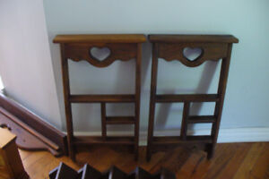 Wooden shelfs and items