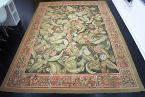 9 X 12' French Antique Aubusson Rug $1500