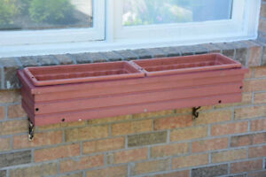 Window Planter Boxes (pair) - Wood with Inserts