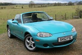 2002/52 Mazda MX-5 1.6i Convertible +++ ONLY 28,000 Genuine Miles +++