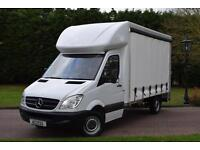 Mercedes Benz Sprinter curtain-sider 313 cdi 130 bhp with 500kg tail lift