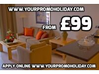 Cheap holiday to Tenerife. From £99 for 7 nights of luxury accommodation. Try a Promotional Holiday