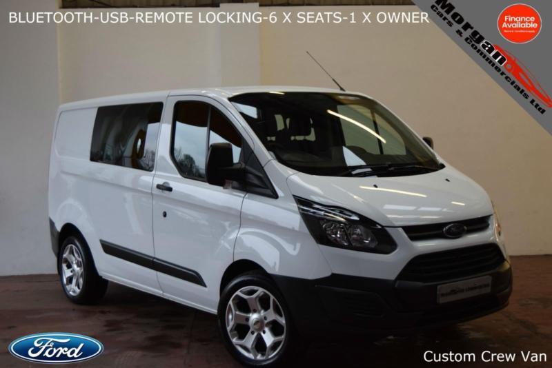 b33a3d1734 2016 Ford Transit Custom 2.2TDCi (100PS) Double Cab-6 X SEATS-BLUETOOTH-NO  VAT-