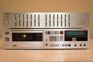 Vintage 7 Band Stereo EQ and AL-55 Tape Deck (needs repair)