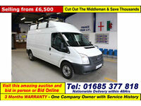 2012 - 12 - FORD TRANSIT T350 2.2 TDCI 100PS RWD LWB HIGH TOP VAN (GUIDE PRICE)
