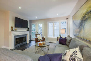 Leslieville Executive 3 BR Townhome, 2 Car Parking