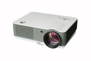 Royale R-1000 4K LED 3D Projector Unopened (Screen included)