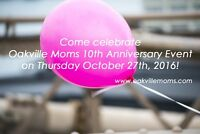Oakville Moms 10th Anniversary Event on October 27th!