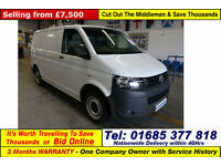 2010 - 10 - VOLKSWAGEN TRANSPORTER T28 2.0TDI 102PS SWB VAN (GUIDE PRICE)