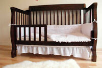 Wooden Convertible crib 4-1 Basinette en bois