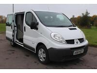 Renault Trafic 2.0dCi SL27 Phase 3( Sat Nav ) Crew Van 115 Low Miles £9,495 +VAT