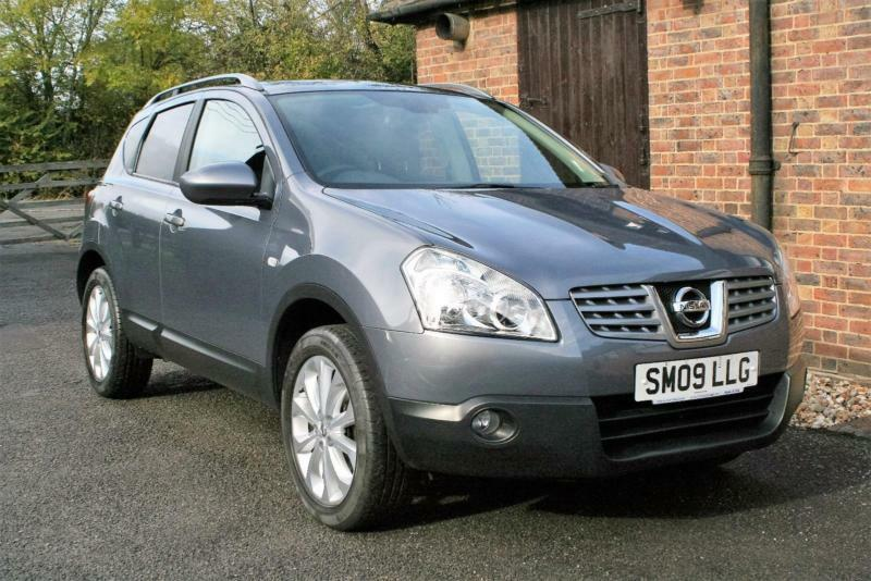 2009 NISSAN QASHQAI 1.5DCI N-TEC. FINISHED IN FADED DENIM METALLIC. TWO OWNERS