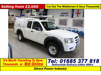2009 - 09 - FORD RANGER 2.5TDCI 4X4 PICK UP C/W TOOLBOX BACK (GUIDE PRICE)