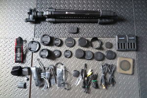 Lot of Various Camera Accessories Canon Nikon Olympus