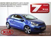 SEPT 13 Kia Rio 1.4 (107bhp) ISG 3-HEATED SEATS-BLUETOOTH-CRUISE-LED'S-S/H