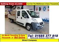 2010 - 60 - CITROEN RELAY 2.2HDI 120PS LWB DOUBLE CAB DROPSIDE (GUIDE PRICE)