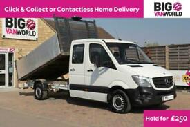 2015 MERCEDES SPRINTER 313 CDI 129 BLUEEFFICIENCY 7 SEAT DOUBLE CAB HIGH SIDED T