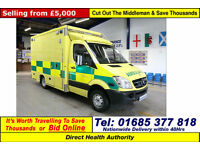 2010 - 10 - MERCEDES SPRINTER 2.2CDI AUTO UV MODULAR BODY AMBULANCE / CAMPER