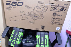 Ego 56V 480CFM Cordless leaf blower with 2 batteries and charger