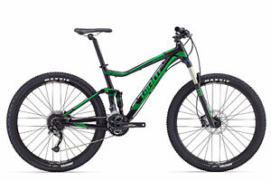 2016 GIANT STANCE 2 27.5 BLK/GREEN SMALL