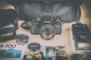 Minolta x700, camera 35mm, lens & flash like new condition