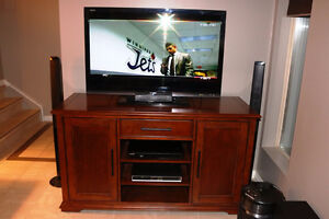 SOLID WALNUT  ENTERTAINMENT CENTER FURNITURE BY LANE