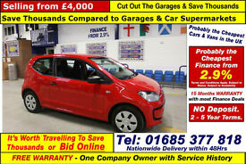 2013 - 63 - VOLKSWAGEN UP TAKE UP 1.0 PETROL 3 DOOR HATCHBACK (GUIDE PRICE)