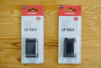 Two LP-E6n camera batteries for Canon 5D3, 7D, etc.